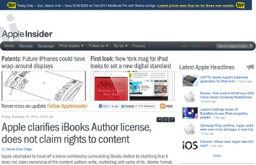 http://appleinsider.com/articles/12/02/03/apple_clarifies_ibooks_author_license_does_not_claim_rights_to_content
