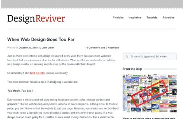 http://designreviver.com/general/when-web-design-goes-too-far/
