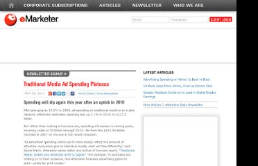 http://www.emarketer.com/Article/Traditional-Media-Ad-Spending-Plateaus/1008398