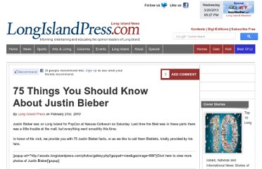 http://archive.longislandpress.com/2010/02/21/75-things-you-should-know-about-justin-bieber/