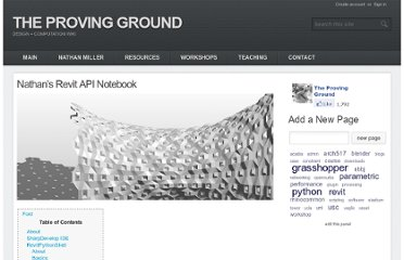 http://wiki.theprovingground.org/revit-api