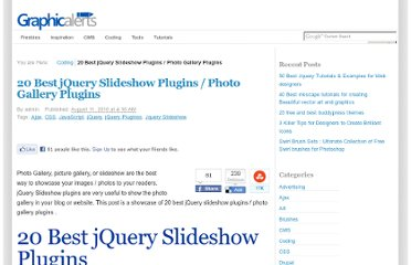 http://graphicalerts.com/20-best-jquery-slideshow-image-photo-gallery-plugins/