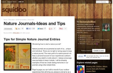 http://www.squidoo.com/naturejournal