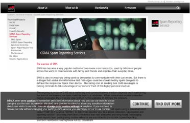 http://www.gsma.com/technicalprojects/gsma-spam-reporting-services