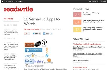 http://readwrite.com/2007/11/28/10_semantic_apps_to_watch