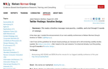 http://www.nngroup.com/articles/twitter-postings-iterative-design/