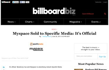http://www.billboard.com/biz/articles/news/1177271/myspace-sold-to-specific-media-its-official