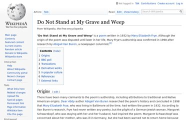 https://en.wikipedia.org/wiki/Do_Not_Stand_at_My_Grave_and_Weep