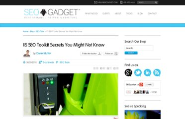 http://seogadget.com/iis-seo-toolkit-secrets-you-might-not-know/