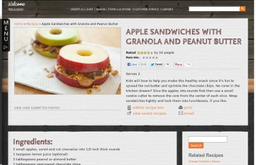 http://www.wholefoodsmarket.com/recipe/apple-sandwiches-granola-and-peanut-butter