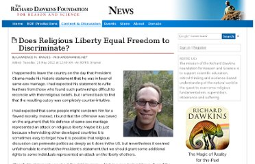 http://old.richarddawkins.net/articles/646057-does-religious-liberty-equal-freedom-to-discriminate