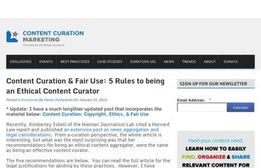http://www.contentcurationmarketing.com/content-curation-fair-use-5-rules-to-being-an-ethical-content-curator/