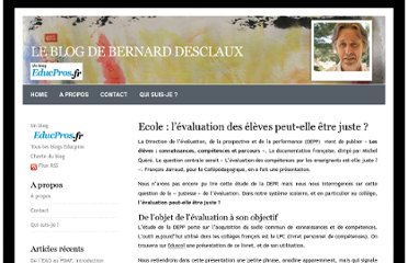 http://blog.educpros.fr/bernard-desclaux/2012/02/06/la-justesse-de-l%e2%80%99evaluation/