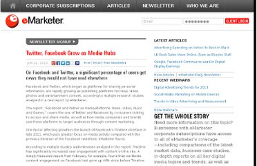 http://www.emarketer.com/Article/Twitter-Facebook-Grow-Media-Hubs/1009138