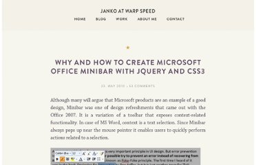 http://www.jankoatwarpspeed.com/why-and-how-to-create-microsoft-office-minibar-with-jquery-and-css3/