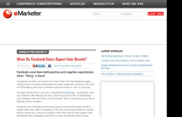 http://www.emarketer.com/Article/What-Do-Facebook-Users-Expect-Brands/1008630