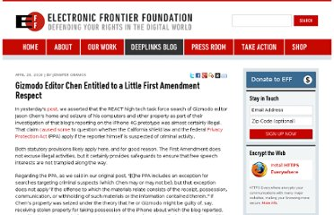https://www.eff.org/deeplinks/2010/04/gizmodo-editor-chen-entitled-to-first-amendment-respect