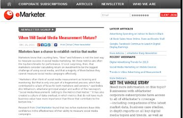 http://www.emarketer.com/Article/Will-Social-Media-Measurement-Mature/1008742