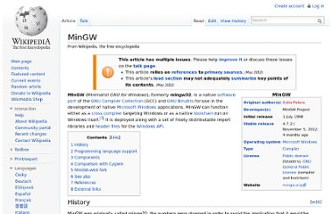 http://en.wikipedia.org/wiki/MinGW#External_links