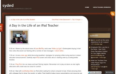 http://dedwards.me/2012/06/24/a-day-in-the-life-of-an-ipad-teacher/