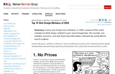 http://www.nngroup.com/articles/top-ten-web-design-mistakes-of-2002/