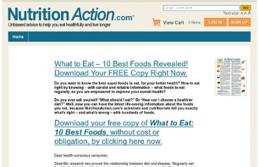 http://www.nutritionaction.com/FREE-Health-Advice-What-to-Eat/10-Best-Foods