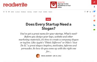 http://readwrite.com/2012/06/25/does-every-startup-need-a-slogan