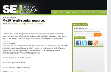 http://www.searchenginejournal.com/my-50-favorite-design-resources/54757/