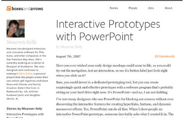 http://boxesandarrows.com/interactive-prototypes-with-powerpoint/