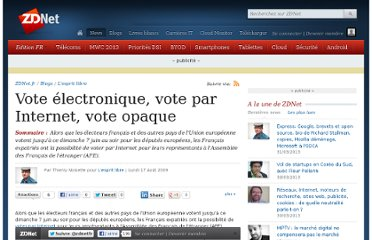 http://www.zdnet.fr/actualites/vote-electronique-vote-par-internet-vote-opaque-39602430.htm