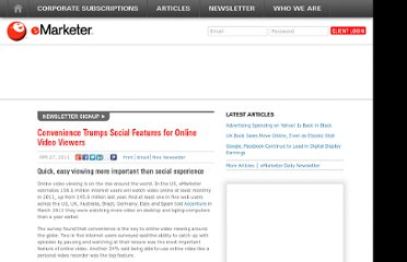 http://www.emarketer.com/Article/Convenience-Trumps-Social-Features-Online-Video-Viewers/1008361
