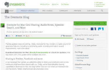 http://blog.evernote.com/blog/2011/04/26/evernote-for-mac-gets-sharing-audio-notes-speedier-search-and-more/