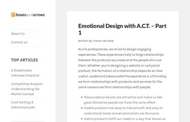 http://boxesandarrows.com/emotional-design-with-a-c-t-part-1/