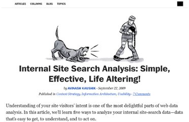 http://alistapart.com/article/internal-site-search-analysis-simple-effective-life-altering