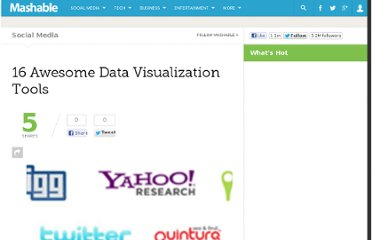 http://mashable.com/2007/05/14/16-awesome-data-visualization-tools/