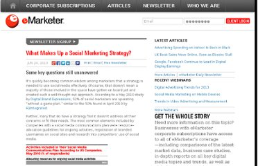 http://www.emarketer.com/Article/What-Makes-Up-Social-Marketing-Strategy/1007766