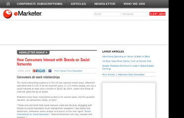 http://www.emarketer.com/Article/How-Consumers-Interact-with-Brands-on-Social-Networks/1007742
