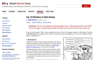 http://www.nngroup.com/articles/top-10-mistakes-web-design/