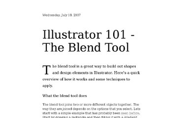 http://shapeshed.com/illustrator_101_the_blend_tool/