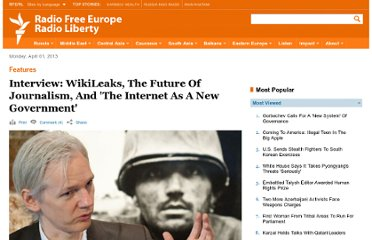 http://www.rferl.org/content/Interview_WikiLeaks_The_Future_Of_Journalism_And_The_Internet_As_A_New_Government/2125190.html