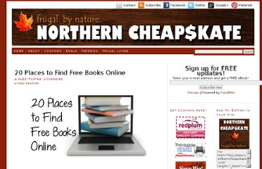 http://www.northerncheapskate.com/20-places-to-find-free-books-online/