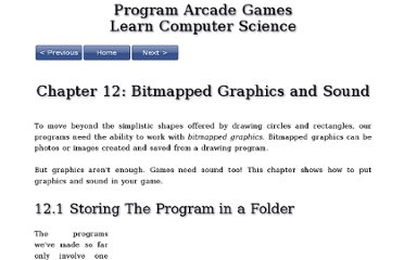 http://programarcadegames.com/index.php?chapter=bitmapped_graphics_and_sound