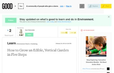 http://www.good.is/posts/how-to-grow-an-edible-vertical-garden-in-5-steps