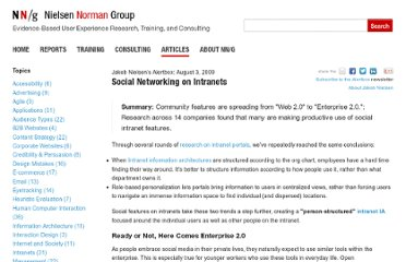 http://www.nngroup.com/articles/social-networking-on-intranets/