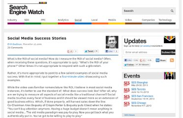 http://searchenginewatch.com/article/2064291/Social-Media-Success-Stories