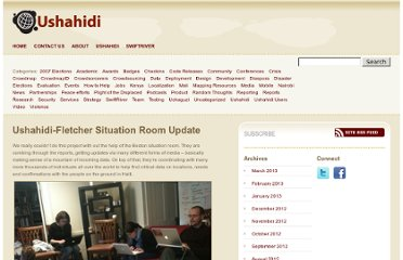 http://blog.ushahidi.com/2010/01/18/ushahidi-fletcher-situation-room-update/