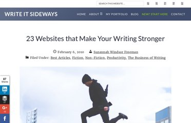http://writeitsideways.com/23-websites-that-make-your-writing-stronger/