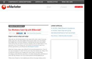 http://www.emarketer.com/Article/Marketers-Catch-Up-with-Millennials/1007910