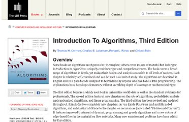 http://mitpress.mit.edu/books/introduction-algorithms