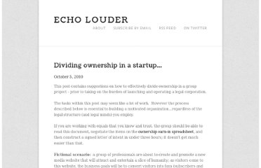 http://echolouder.com/echo-louder/dividing-ownership-in-a-startup.html